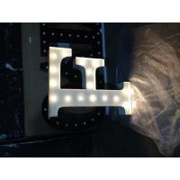 Wholesale 12 Inch Metal LED Carnival Letter Lights / Illuminated Wedding Letters With Light Bulb from china suppliers