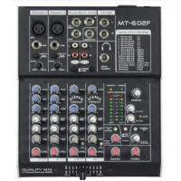 Quality 6 Channels DJ Power Mixer , Stereo Powered Mixer For For Stage for sale