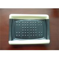 Quality Black And White Plastic Packaging Trays , Food Serving Tray Keep Food Fresh for sale