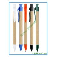 Wholesale eco paper pen, promotional gift paper logo pen from china suppliers