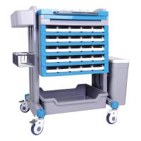 Wholesale L * W * H 750 * 600 * 1000mm Crash Medical ABS Nursing Emergency Trolley from china suppliers