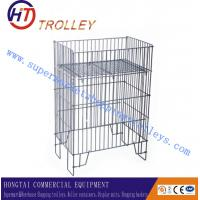 Wholesale Oblong Foldable / Stackable grocery store Wire Dump Bin For Warehouse from china suppliers