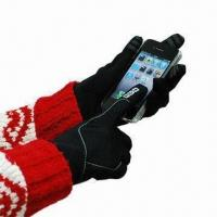 Wholesale Touch Screen Gloves with Play Finger Game Warmly, Made of 97% Polyester and 3% Spandex from china suppliers