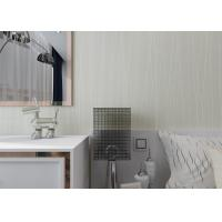 Quality Simple Grey Stripes Modern Removable Wallpaper for Home , Embossed Wall Coverings for sale