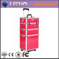 Wholesale Rolling trolley beauty case professional makeup trolley case from china suppliers
