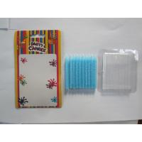 Wholesale SGS Feliz Cumpleanos Print Birthday Candles White Star Blue Smooth Paraffin Wax from china suppliers