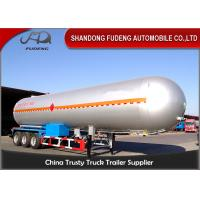 Wholesale 10 Wheelers LPG LNG Fuel Transfer Trailer 3*13 Ton FUWA Axles Carbon Steel Tank from china suppliers