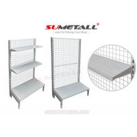 Wholesale Multi Layer Retail Store Shelving / Retail Wall Display Shelves With Mesh Grid Back Panel from china suppliers