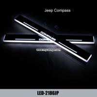 Wholesale Jeep Compass Led Moving Door sill Scuff Dynamic Welcome Pedal LED Lights from china suppliers