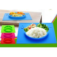 Wholesale Special Design FDA Standard Silicone Baby Plate Bowl With Grade Division from china suppliers