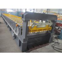 Wholesale PLC Hydralic Cut Metal Roof Roll Forming Machine For 26 Roller Stations from china suppliers