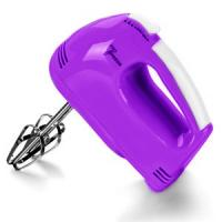 China Purple Egg Beater Electric Hand Mixer Hand Held Electric Whisks With Rejection Button on sale