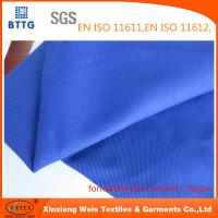 Quality YSETEX EN470-1 EN531 320gsm flame retardant fabric in royal blue color for sale