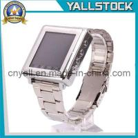 Wholesale AK810-ATri-Band Bluetooth Touch Screen Watch Cell Phone Silver (E03623) from china suppliers