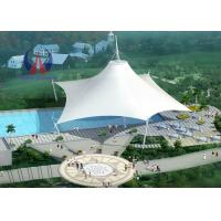 Wholesale Space Frame Park Shade Structures Sun Shelter Canopy For Park Area , Light And Spaciou Membrane Structure Without Wall from china suppliers