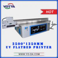 Buy cheap High performance 2.5*1.25m flatbed size 3d acrylic printer uv flatbed printer printing 3d effect on acrylic from wholesalers