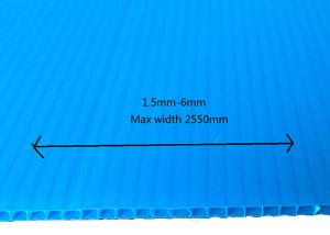 Wholesale Corflute PP Corrugated Board Floor Protection Plastic Blue 2mm 3mm from china suppliers
