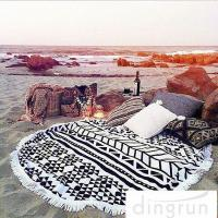 Wholesale Adults Colorful Round 100 cotton beach towels Large Size 150cm Dry Fast from china suppliers