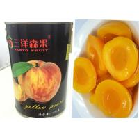 Quality Custom Organic Canned Freestone Peaches Fruit Brix 14 - 17% Short Lead Time for sale