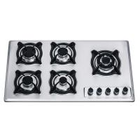Wholesale 900mm Prushed Stainless Steel 5 Burner Gas Cooktop , Five Burner Gas Stove Top from china suppliers