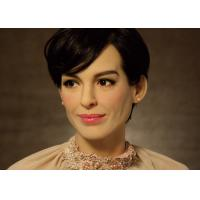 Quality Museum Life Size  Celebrity Wax Statues Of Anne Hathaway Scuplture for sale