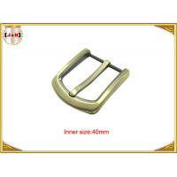 Wholesale Gold Custom Zinc Alloy Metal Belt Buckle 40mm With CNC Engraved Logo from china suppliers