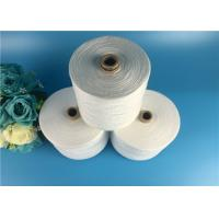 Quality OEKO-TEX 100% Virgin Spun Polyester Yarn Raw White On Paper Cone For Sewing Thread for sale