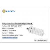 Wholesale T5 6400k Energy Saving Lamp , Full Spiral Light Bulbs E27 / E40 from china suppliers