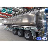 Quality Safety Tri Axle Aluminum Alloy Fuel Tank Semi Trailer 30m3 - 45m3 for sale