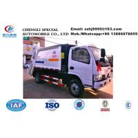Wholesale Dongfeng 4*2 small compactor garbage truck for sale in Sri Lanka, Factory sale good price 5M3 rear loader garbage truck from china suppliers