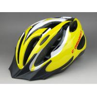 Wholesale Yellow Bicycle Helmet With Visor / Downhill Mountain Bike Helmets Custom from china suppliers