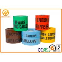 Wholesale Reflective Danger Barricade Tape for Construction Site / Underground Detectable Warning from china suppliers
