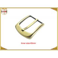 Wholesale 40mm Gold Custom Zinc Alloy Metal Pin Belt Buckle / Coat Belt Buckle Replacement from china suppliers