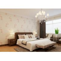 Wholesale Beige Floral Pattern Country Style Wallpaper , Living Room Non Woven Wallcovering from china suppliers