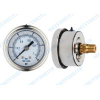 "Wholesale 50mm Precision pressure gauge with 1/4"" connector and stainless steel bayonet bezel from china suppliers"