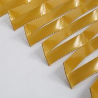 Wholesale golden anodized aluminum expanded metal sheet  /  decorative curtain wall expanded metal from china suppliers