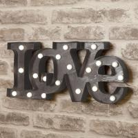 Wholesale Romantic Illuminated Love LED Light Up Letters Sign For Wedding Decoration 9'' / 12'' from china suppliers