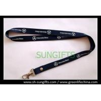 Wholesale Flat non-breakaway polyester lanyard with nickle-plated hook from china suppliers