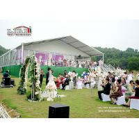 Wholesale White , Red , Yellow Luxury Wedding Tents Decoration With PVC Roof Cover For Wedding Party from china suppliers