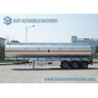 Wholesale Stainless Steel Tri-axle Oil Tank Trailer 40000L 12000*2500*3650mm from china suppliers