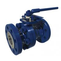 WCB 2 Or 3 Piece Floating Ball Valve RTJ Flange A105 High Flow Capacity
