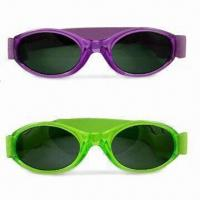 Quality Kid's Sunglasses with Scratch-resistant Coated Lens, Non-toxic, Azo- and Lead-free for sale