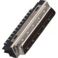 Quality 1.27*2.54 Pitch 68P Male Scsi Drive Connector With Welded Steel Small Computer System Interface for sale