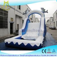 Wholesale Hansel China PVC material kids jumping castle bouner water slide outdoor play equipment from china suppliers