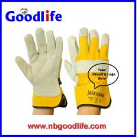 Buy cheap Lether Plam glovws Cow Welding gloves from wholesalers