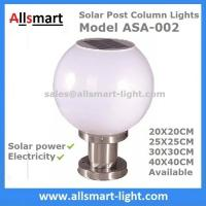 Buy cheap Solar Post Column lights Solar Fence Top Pillar Outdoor Lighting 20cm25cm30cm40cm Electricity and Solar Hybrid Lights from wholesalers