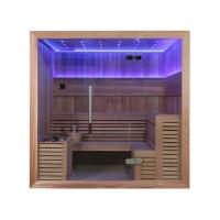 Wholesale Monalisa M-6044 latest classic sauna room American European style sauna enclosure Canadian cedar African white pine wood from china suppliers