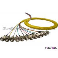 Wholesale Breakout Bundle Fiber Optic Pigtail With 12 Colors 0.9mm Loose Tube FC Single Mode from china suppliers