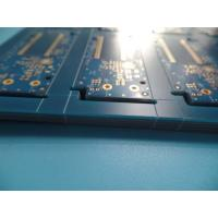 """Quality 4U """" Thick Immersion Gold Pcb Fr4 Blue Matt Type Mask Inner Layer Half Ounce for sale"""