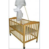 Quality Safety standard Wooden Sleigh Baby Cot Crib Bed with Mosquito Net for sale